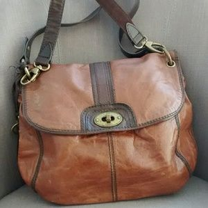 Fossil vintage style leather handbag